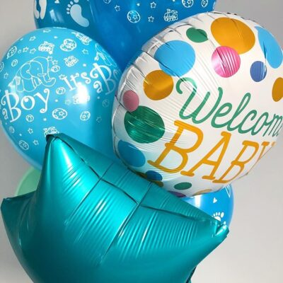Balony z helem Welcome Baby